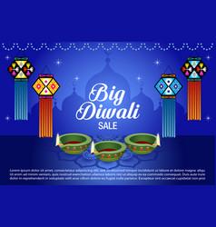 Diwali sale banner vector