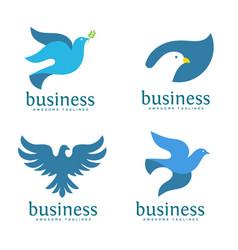 dove logo concept vector image