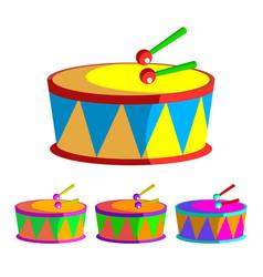 Drum children toy rhythm symbol music vector
