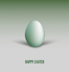 Easter card with green egg and shadows vector