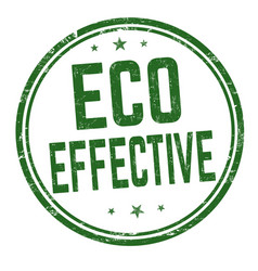 Eco effective sign or stamp vector