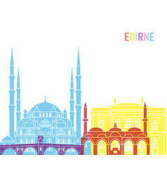 Edirne skyline pop vector