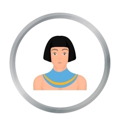 Egyptian man icon in cartoon style isolated on vector image
