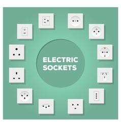 Electric Sockets Set vector image