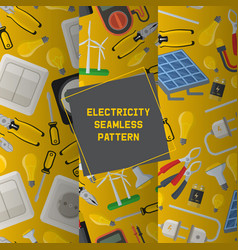 electricity seamless pattern power vector image