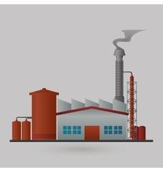 Factory plant design vector