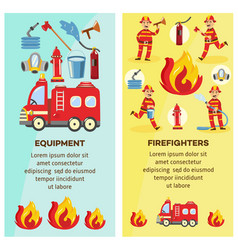 firefighting and equipment concept banner vector image