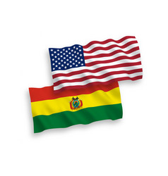 flags bolivia and america on a white background vector image