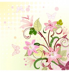 floral pattern with lilies vector image