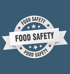 food safety ribbon food safety round white sign vector image
