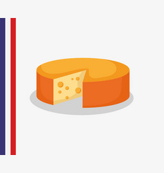 france culture card with cheese vector image