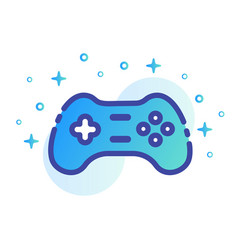 Game controller linecolor vector