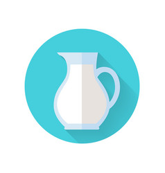 glass jug with milk isolated on white background vector image