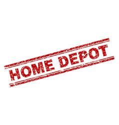 Grunge textured home depot stamp seal vector