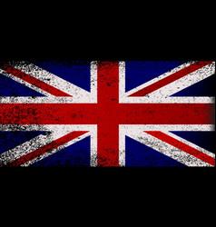 grunge union jack flag vector image