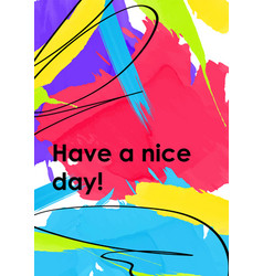 Have a nice day web banner poster template vector