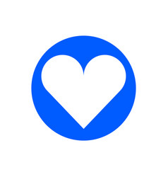 heart glyph icon vector image