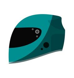Helmet flat shadow vector