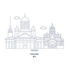 helsinki city skyline vector image