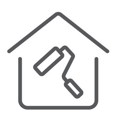 Home repair line icon real estate and home vector