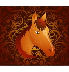 Horse as symbol for year 2026 vector image