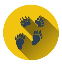 Icon of bear trails vector image