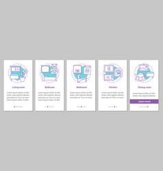 interior design onboarding mobile app page screen vector image