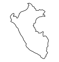 Isolated peruvian map vector