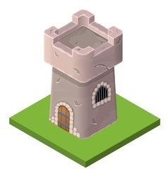 Isometric icon medieval tower or prison vector