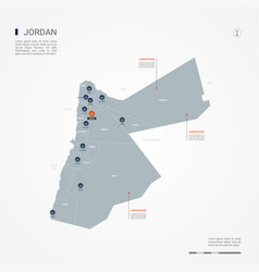 Jordan infographic map vector