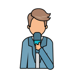 journalist man icon vector image