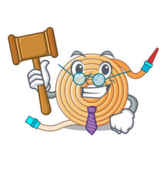 Judge the water hose mascot vector