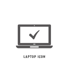 laptop icon simple flat style vector image