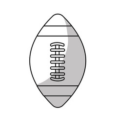 line american football tool to play the sport vector image