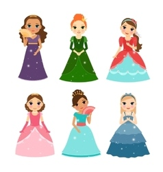 Little girls princess vector