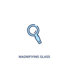 magnifying glass concept 2 colored icon simple vector image