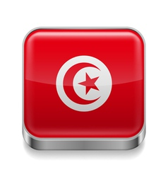 Metal icon of Tunisia vector