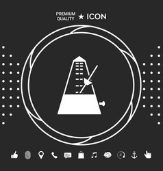 Metronome icon symbol graphic elements for your vector