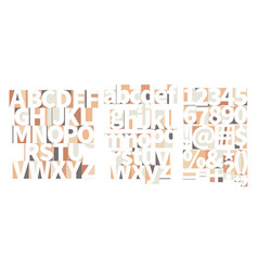 minimal geometric art-deco font with counter vector image