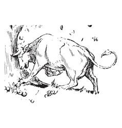 Miss cow vintage vector