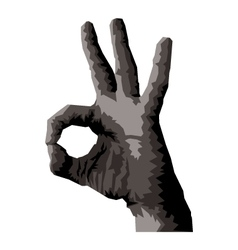 Ok hand vector