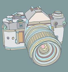Old dslr camera vector