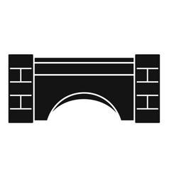 old stone bridge icon simple style vector image