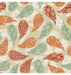 paisley vintage seamless floral pattern vector image