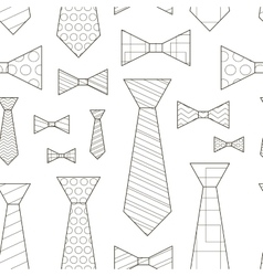 Pattern of Ties and Bow Ties vector