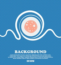 Pizza Icon Blue and white abstract background vector image