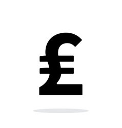 Pound sterling icon on white background vector image