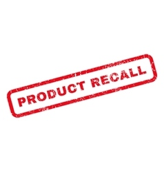 Product Recall Rubber Stamp vector image