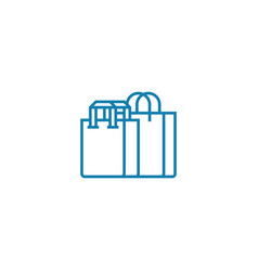 purchase of clothes linear icon concept purchase vector image