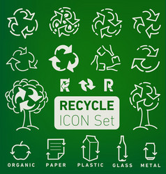 Recycle icons and elements vector